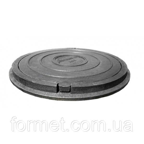 Люк пластиковый тип Л (1,0т) 730*50 (крышка 630*25) черный