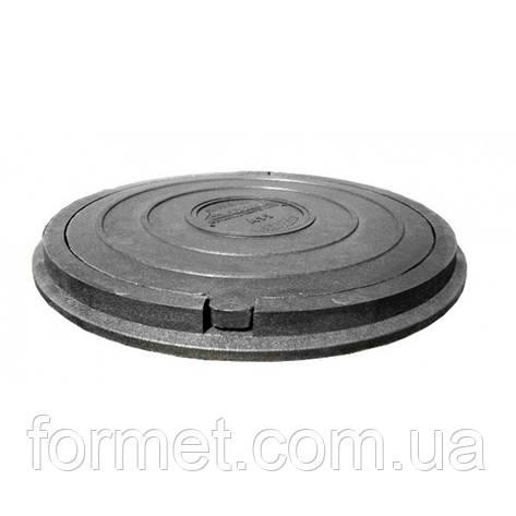 Люк пластиковый тип Л (1,0т) 730*50 (крышка 630*25) черный, фото 2