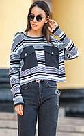 Стильный укороченный женский пуловер «Санти»