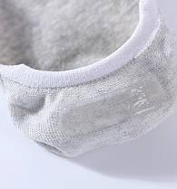 Комплект (5 пар) носков-следов в полоску с силиконовым фиксатором на ноге и фиксатором на пятке. Набор носков Размер 36-41, фото 3