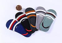 Комплект  (5 пар) носков-следов с силиконовым фиксатором на ноге. Набор носков Размер 36-41