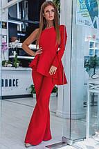 """Элегантный женский костюм-двойка """"Candice"""" брюки-клёш и блуза с одним рукавом (2 цвета), фото 2"""