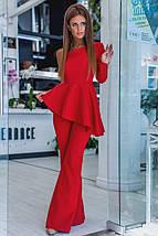 """Элегантный женский костюм-двойка """"Candice"""" брюки-клёш и блуза с одним рукавом (2 цвета), фото 3"""