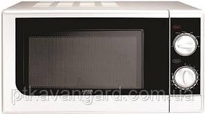 Микроволновая печь (СВЧ) белая 20л, 700 Вт, 5 режимов приготовлении еды Adler AD 6203