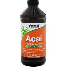 "Жидкий концентрат асаи NOW Foods ""Acai Liquid Concentrate"" (473 мл)"
