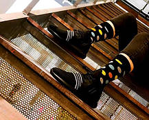 Черные мужские носки в горох Friendly Socks, фото 2