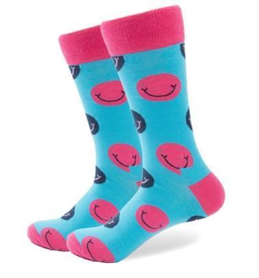 Бирюзовые носки со смайлами от Friendly Socks