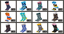 Синие носки с разноцветными перьями от Friendly Socks, фото 2