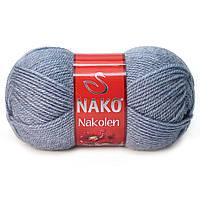 Пряжа Nako Nakolen 23135 светлый джинс (нитки для вязания Нако Наколен) полушерсть 49% шерсть, 51% акрил