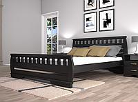 Кровать двуспальная ТИС Атлант 4 бук лак