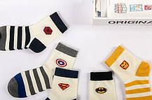 Набор носков с супергероями - Супермен, Спайдермен, Бетмен, Железный Человек, Капитан Америка в СТИЛЬНОЙ Коробке, фото 2