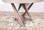 Обеденный круглый стол EDINBUR (Эдинбург) 110/155 мокко Nicolas (бесплатная адресная доставка), фото 7