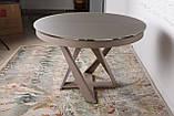 Обеденный круглый стол EDINBUR (Эдинбург) 110/155 мокко Nicolas (бесплатная адресная доставка), фото 9