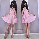 Коттоновое платье с пышной двойной юбкой и верхом на бретелях 9py3321, фото 3