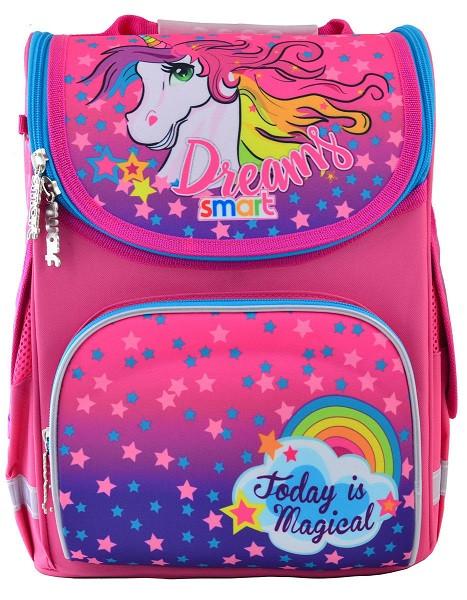 555902 Яркий каркасный рюкзак Smart PG-11 Unicorn 26*34*14
