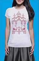 Освященная женская футболка «Храм Богородицы»