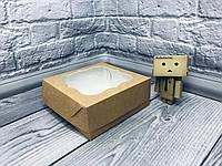 Коробка под зефир / *h=6* / 150х150х60 мм / Крафт / окно-обычн, фото 1