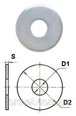Шайба плоская   М6 цинк увелич., фото 2
