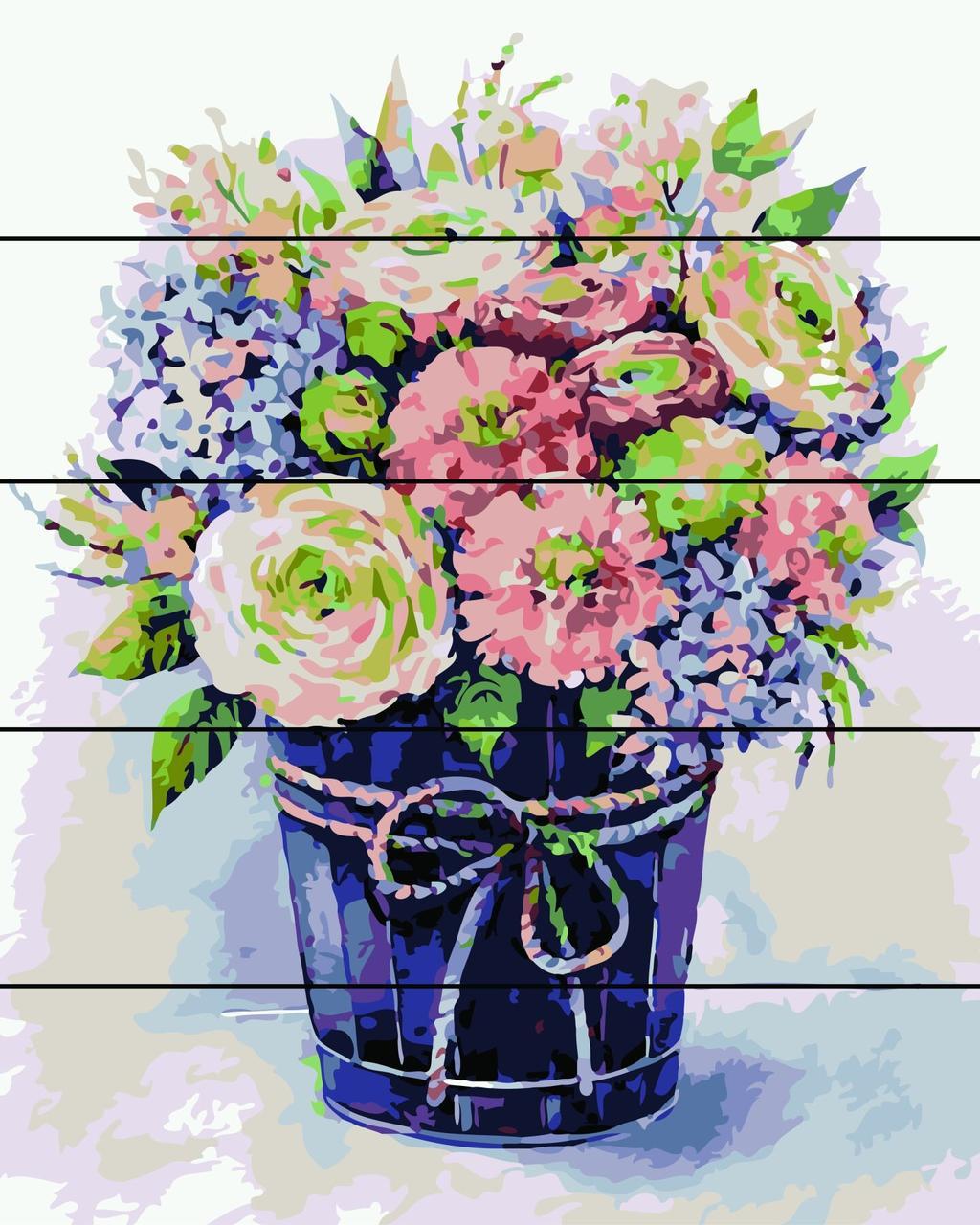 Раскраски по номерам на дереве Ведёрко счастья Rainbow Art RA-AS0120 40 х 50 см