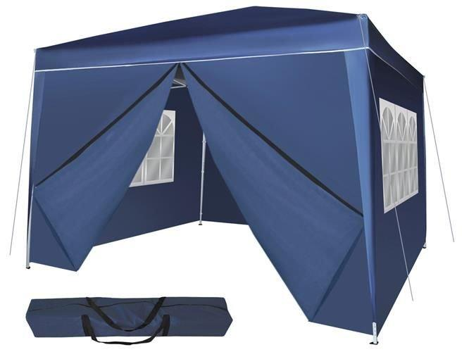 Садовый павильон, тент, шатер 3*3 складний синій, фото 1