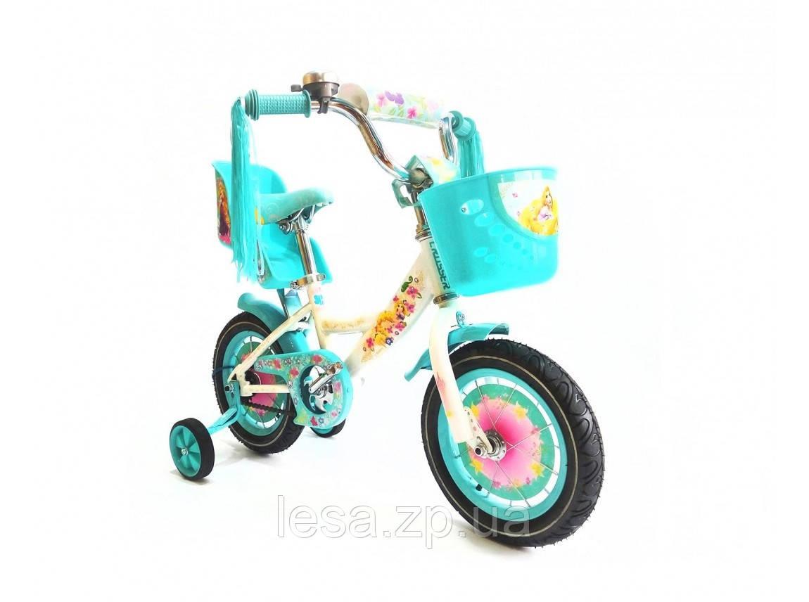 """Детский велосипед Girls 12"""" (бирюзовый)"""
