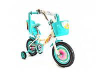 """Детский велосипед Girls 12"""" (бирюзовый), фото 1"""