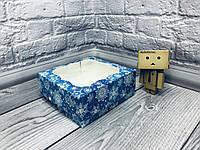 *10 шт* / Коробка под зефир / *h=6* / 150х150х60 мм / печать-Снег.Син / окно-обычн / НГ, фото 1