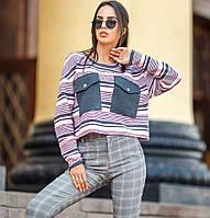 Модный женский укороченный пуловер «Санти»