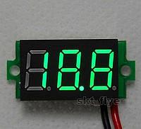 Цифровой вольтметр от 2.5 до 30 Вольт - Панель на красных или зеленых светодиоднах