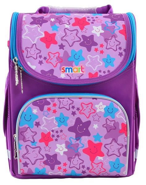 555914 Школьный каркасный рюкзак Smart PG-11 Funny stars 26*34*14