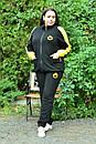 Женский спортивный костюм в больших размерах с кофтой на молнии и штанами на манжетах 10ba2084, фото 2