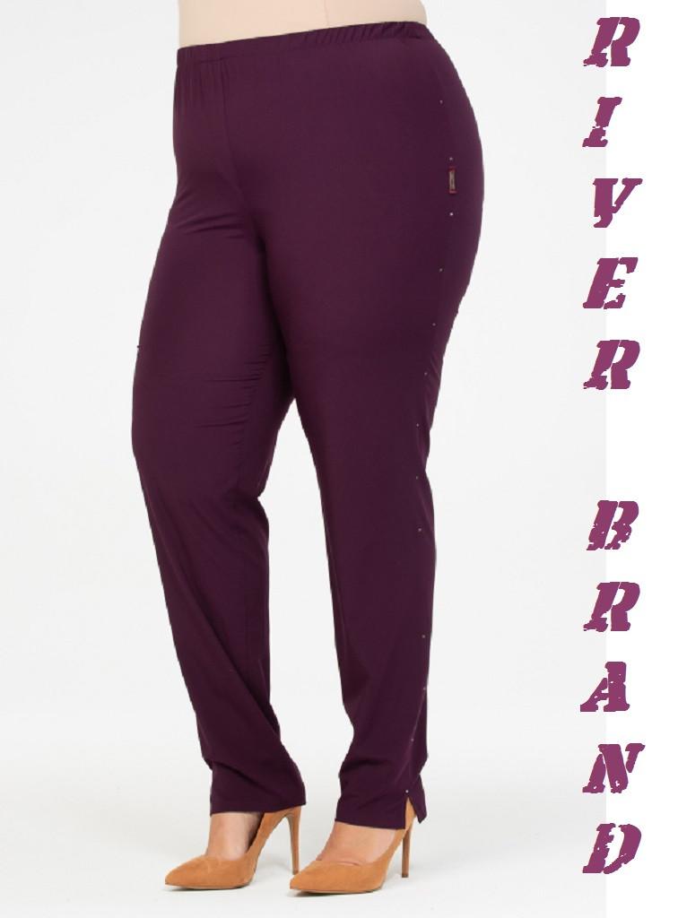 Зауженные женские брюки в больших размерах из костюмки 10ba2088