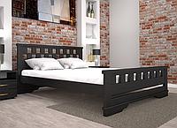 Кровать двуспальная ТИС Атлант 9 бук лак