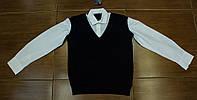 Стильна сорочка обманка для хлопчика на ріст 134-170 см