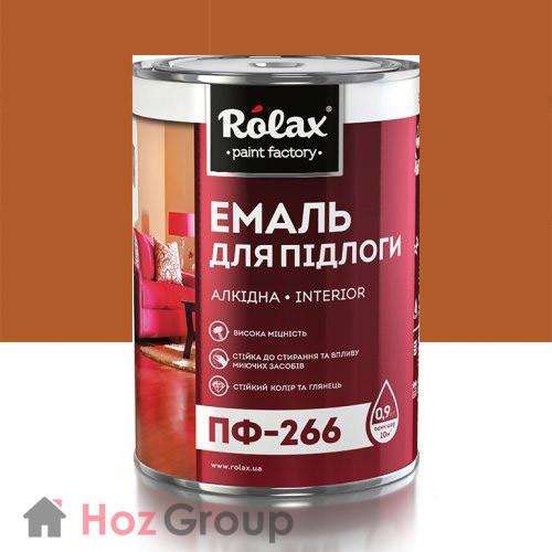 Эмаль для пола ПФ-266 желто-коричневая 20кг Ролакс