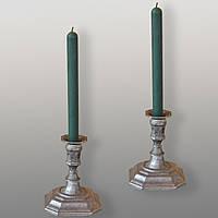 Восковая свеча магическая зеленая (от 5 шт.)