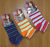 Низкие носки женские в полоску, фото 1