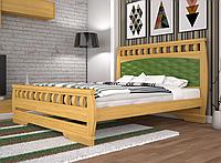 Кровать двуспальная ТИС Атлант 11 сосна лак
