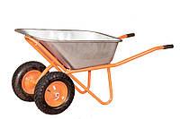 Тачка 100л, 250 кг, 2 колеса cадово-строительная Латвия VITALS 100/250