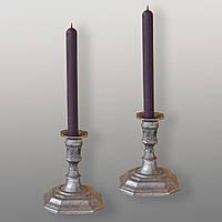 Восковая свеча магическая фиолетовая (от 5 шт.)
