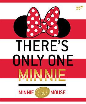Тетрадь А5/12 лин. YES глиттер+фольга золото+софт-тач Minnie Mouse gold, 10шт/уп.