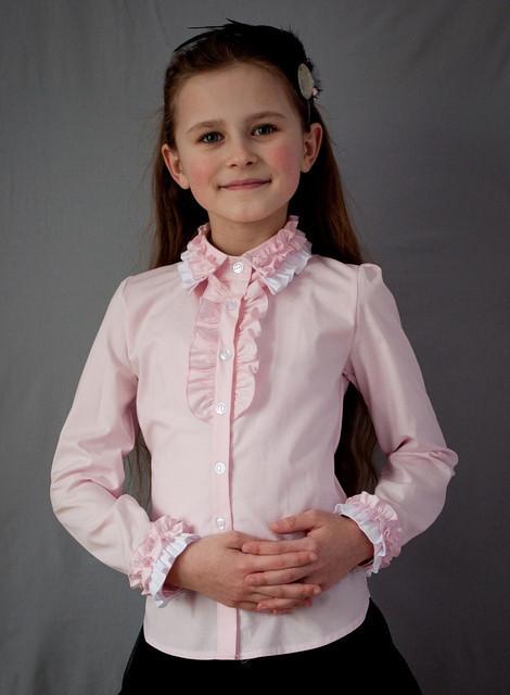 Блузка Свит блуз  мод.2010 розовая р.128