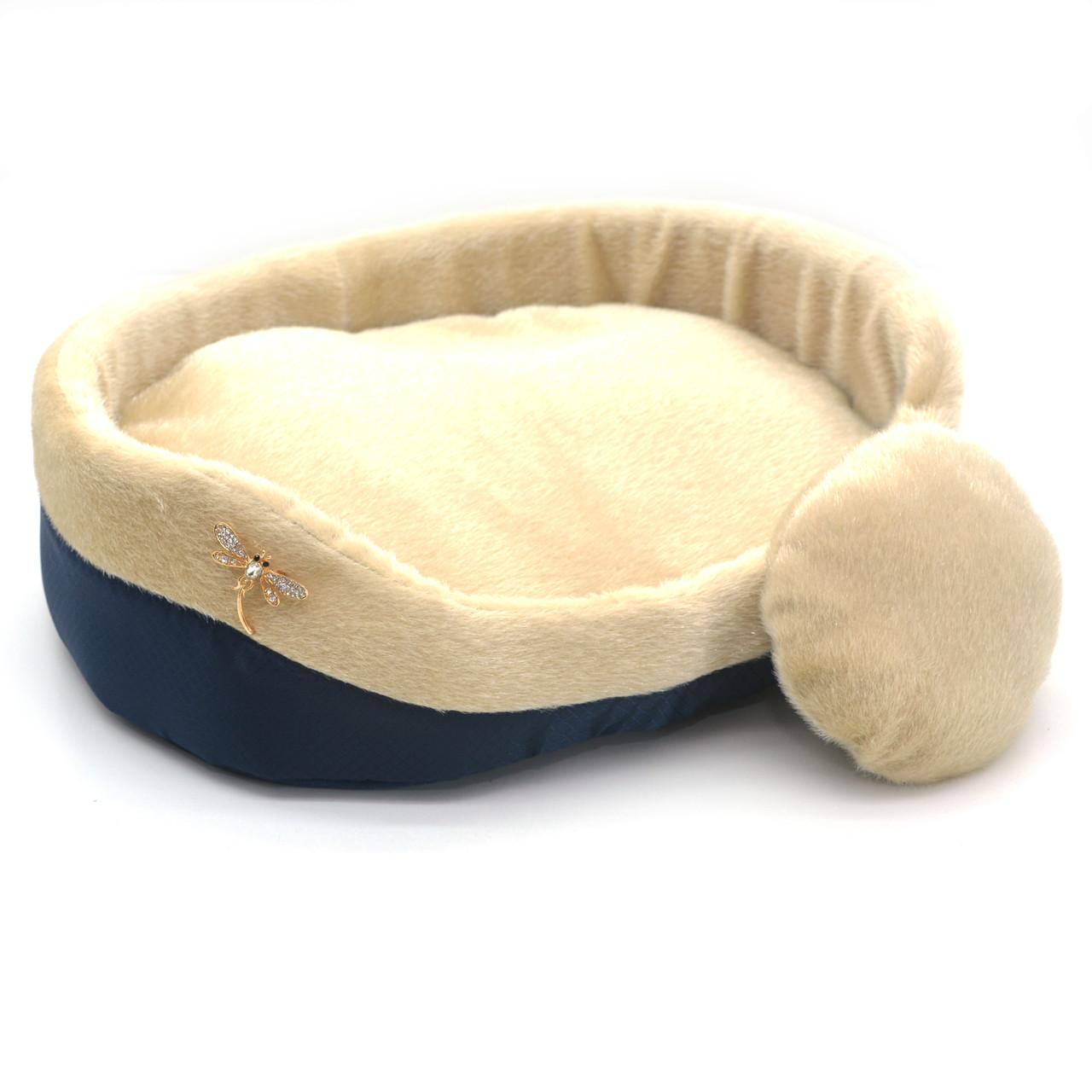 Лежак для собак и котов Мех синий