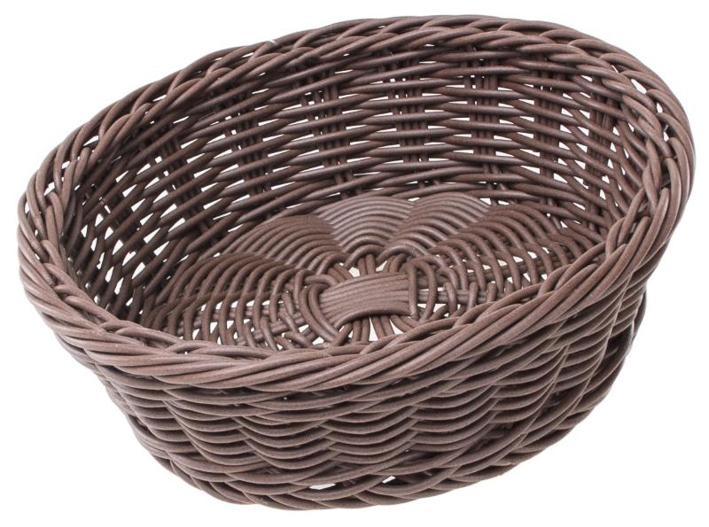 Кошик плетен. (з мет. ободом) кругла d19/h5.5см, Польща