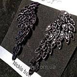Сережки чорні крила (6,5 см), фото 3