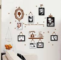 Інтер'єрна наліпка на стіну з рамочками для фото / Интерьерная наклейка на стену с рамочками для фото AY6033