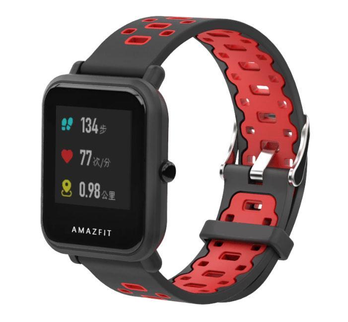 Спортивний ремінець Primo Perfor Classic для годин Xiaomi Huami Amazfit Bip / Amazfit GTS - Black&Red