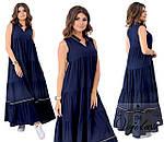 Женское длинное летнее платье штапель