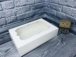 *10 шт* / Коробка под зефир / *h=6* / 230х150х60 мм / Белая / окно-обычн