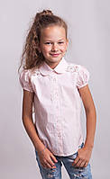 Блузка  Свит блуз  мод. 7040 розовая р.146, фото 1